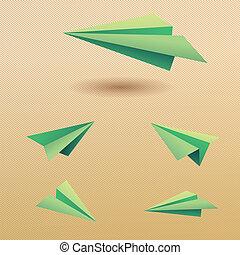 Paper plane vector EPS10 vector