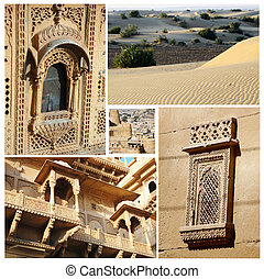 Collage of Rajasthan state popular touristic landmarks,India
