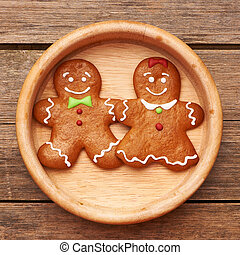 Christmas gingerbread couple - Christmas homemade...