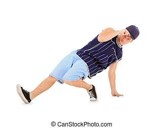 adolescent, danse, coupure, danse, action