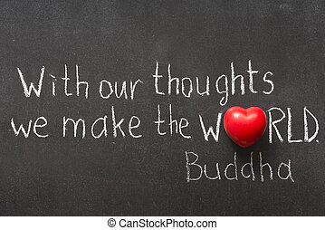 our thoughts - famous Buddha quote interpretation...
