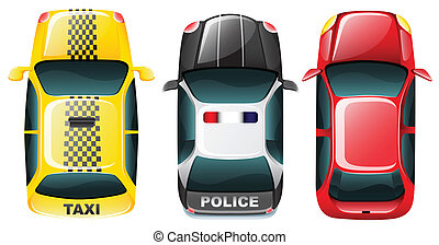 Top of cars - Illustration of roof top of different cars