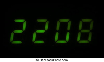 Digital led counter from twenty-two