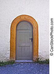 door of an old roman chapell