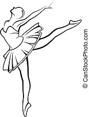 illustration with a ballet dancer