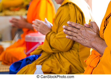 Monks of the religious rituals, Buddhist ceremony - Monks of...