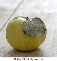 orgánico, manzana, membrillo