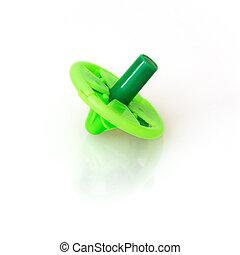 Isolated green children whirligig - Green children whirligig...