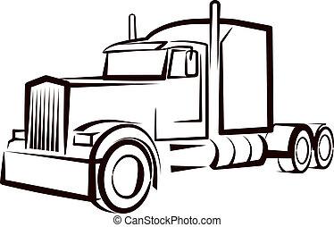 simple, camion,  Illustration