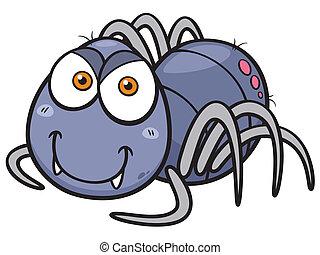 Spider - Vector illustration of Spider cartoon