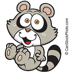 Raccoon - Vector Illustration of cartoon raccoon