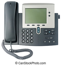 Office telephone set front view - Office digital telephone...