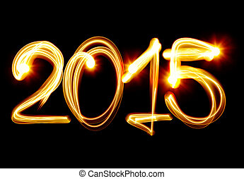 New Year 2015 - Happy New Year 2015 by light