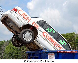 clunkers for cash - clunkers or junk cars for cash incentive...