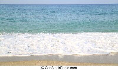 Sea waves  and sandy coastline