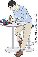 stock illustration - fast food
