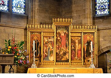 Religous cathedral panel - Large religious panel in...