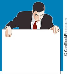 businessman board