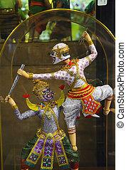 Thai Ramayana Dolls - a Thai Ramayana Dolls