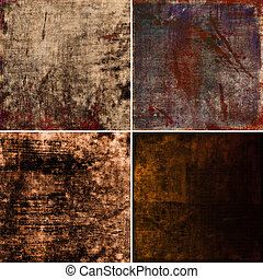 set of grunge background