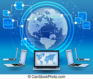 Management of financial operations in the global Internet.
