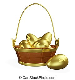 Basket Full of Gold Eggs - Wealth or financial saving...