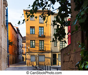 Picturesque street in  european city. Logrono, Spain