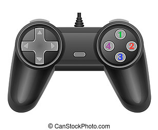 joystick for gaming console illustration isolated on white...