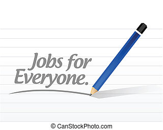 jobs for everyone message illustration design