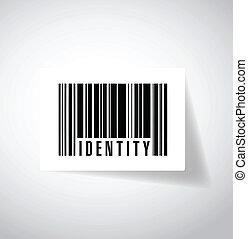 identidad, Barcode, Ilustración, diseño