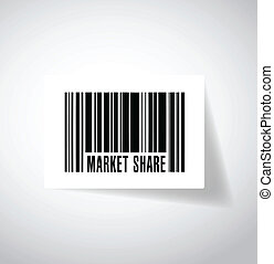 market share barcode illustration design over a white...