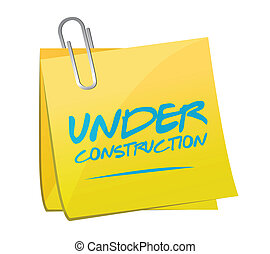 under construction post illustration design