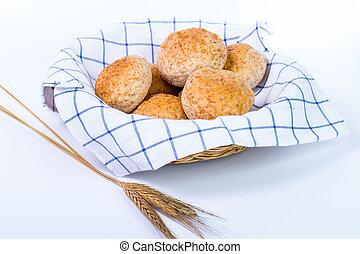 cibo, fresco, naturale,  bread