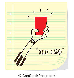 Red Card - Vector illustration of a red card penalty concept...