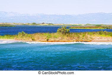 Delta of Ebro river - Delta of Ebro river in summer day....