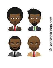 Cartoon male avatar set - Illustration of an isolated...