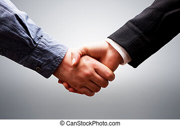 Business handshake. Deal, success, contract, cooperation...
