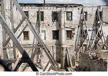 PRESERVING WALLS OF OLD STRUCTURE
