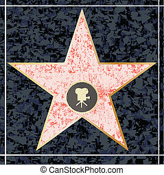Hollywood Walk of Fame - A depiction of a blank holywood...