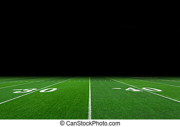 Football field - American football field with copy space