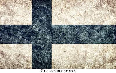 Grunge, Fahne, finnland, Weinlese, Posten, Flaggen,  retro, Sammlung, mein