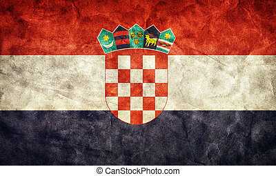 Croatia grunge flag. Item from my vintage, retro flags...
