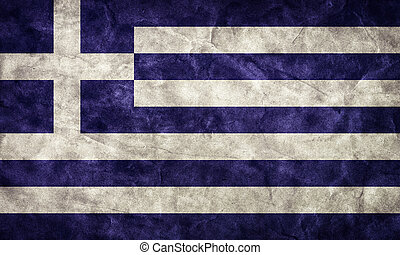 Grunge, Fahne, Weinlese, Posten, Flaggen,  retro, Griechenland, Sammlung, mein