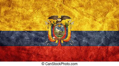 Grunge, Fahne, Sammlung, Weinlese, Posten, Flaggen,  retro, mein, Ekuador