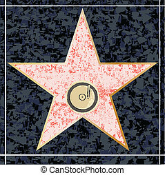 Hollywood Music Walk of Fame - A depiction of a blank...