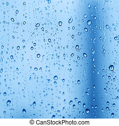 rain drops - Rain drops on the glass in rainy days