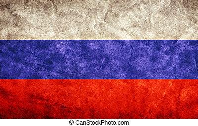 Grunge, Fahne, Sammlung, Weinlese, Posten, Flaggen,  retro, mein, russland