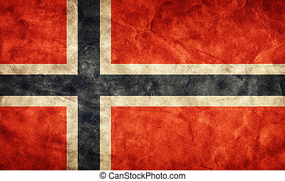 Norway grunge flag. Item from my vintage, retro flags...
