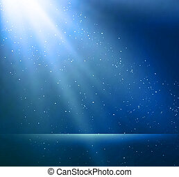 Abstract magic blue light background - Vector illustration...