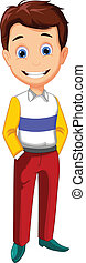 Cute Cartoon boy - vector illustration of Cute Cartoon boy